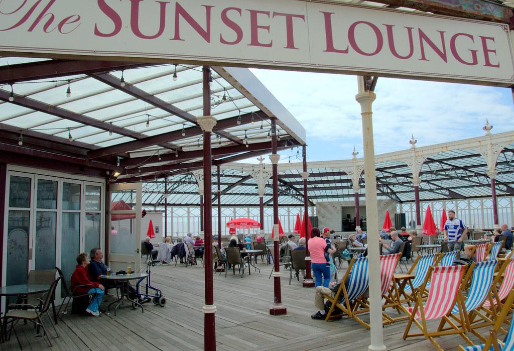 Sunset Lounge on a Blackpool Pier