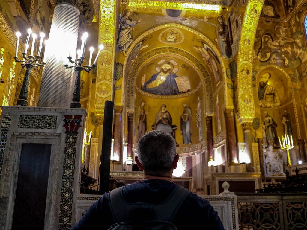 Interior de la Capilla Palatina en el Palacio Real de Palermo