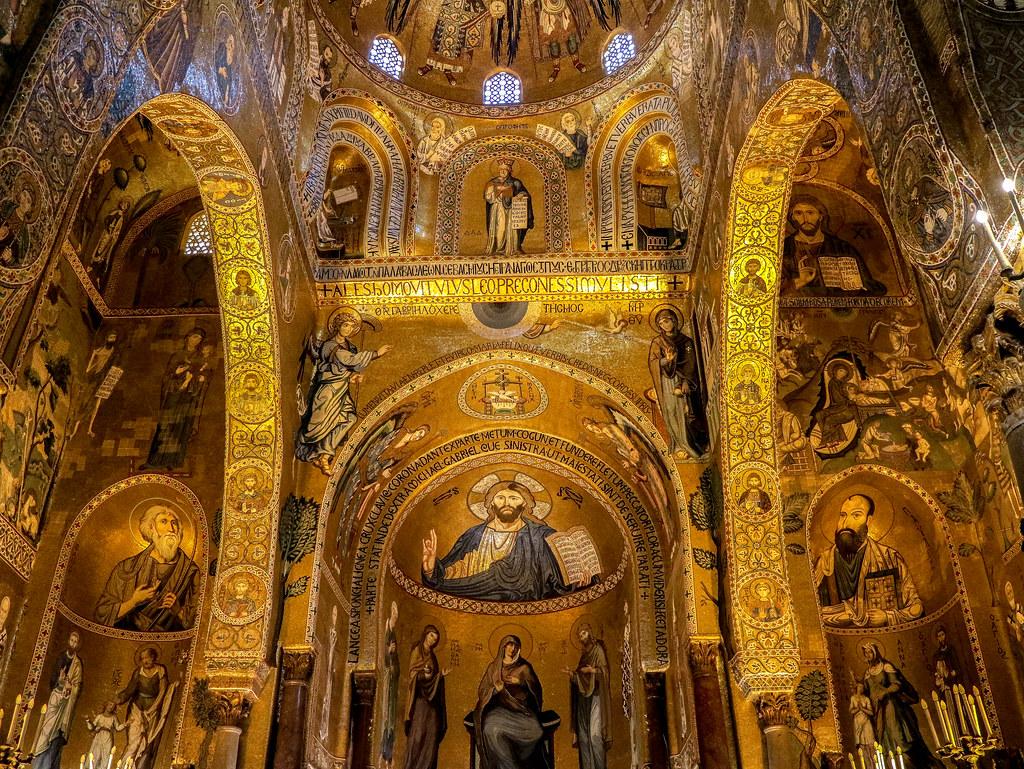 El interior de la Capilla Palatina es uno de los lugares imprescindibles que ver en Palermo
