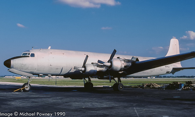 N614CA - 1955 build Douglas C-118A, aircraft broken up on site in early 1999