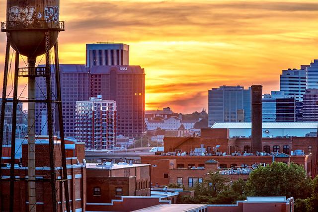 City Sunset Glow