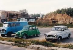 Škoda Octavia + Nysa 501 + Citroën 2CV 4 Gdynia Pologne Polska 12-09-90a