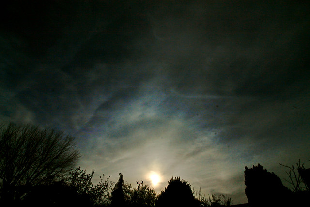 22 Degree Halo from Oxfordshire 18:15 BST 07/04/20