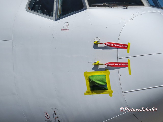 Transavia Boeing 737 stored at Schiphol East