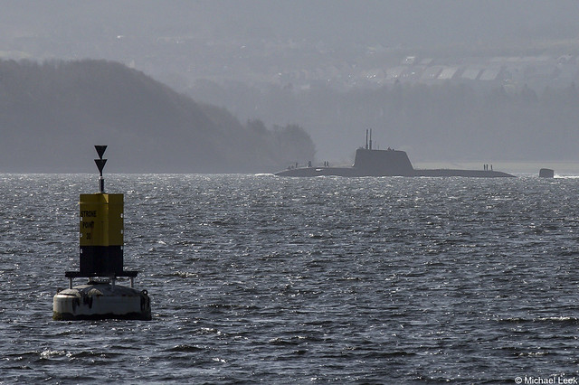 Royal Navy Astute-class submarine HMS Audacious, S122; Firth of Clyde, Scotland