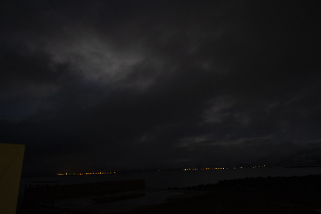 A dark and rainy night