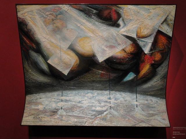 Expo Mexique 1900-1950. Grand Palais. (oct 2016 - janv 2017). D.A. Siqueiros. Antennes stratosphériques 1949