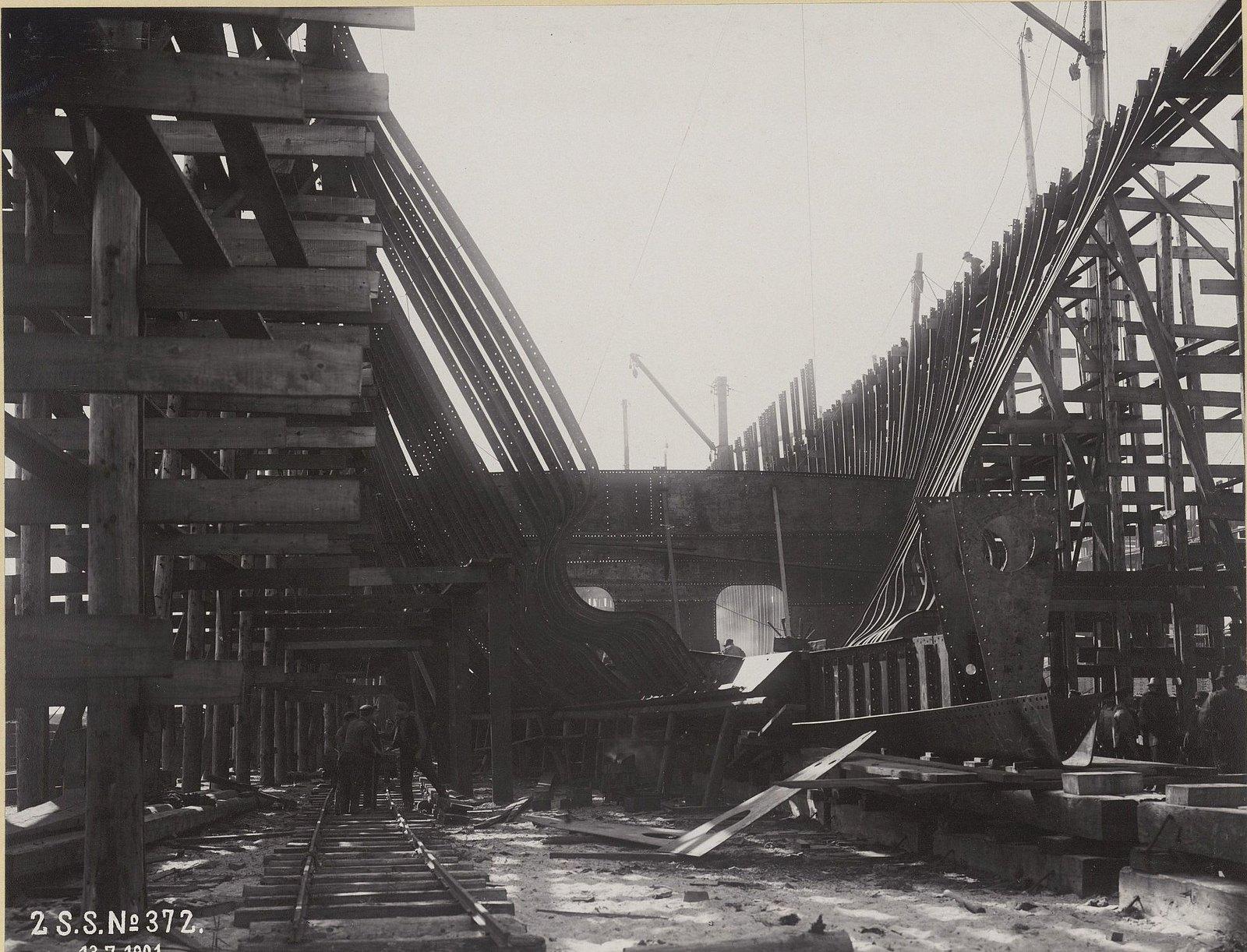 13. Строительство учебного судна «Океан». 13 июля 1901 г.
