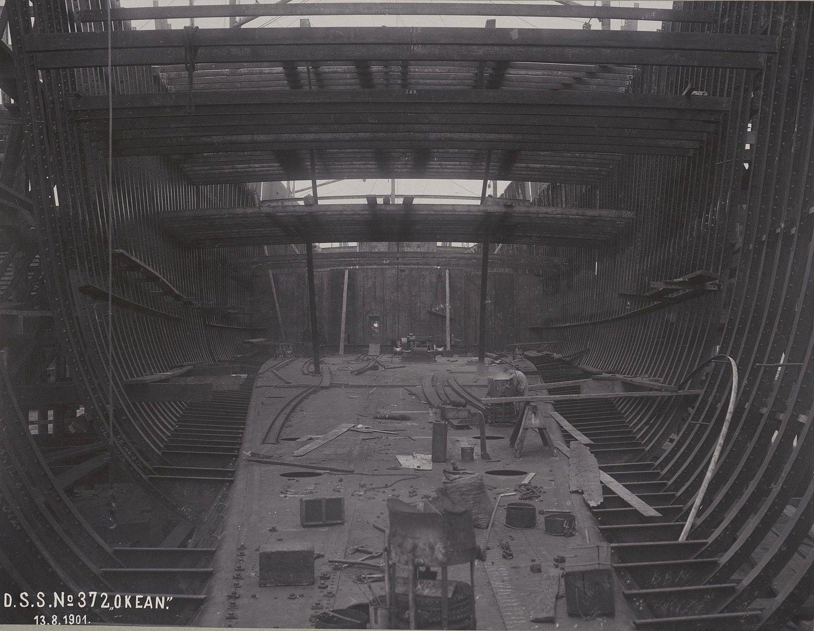 11. Строительство учебного судна «Океан». 13 августа 1901 г.