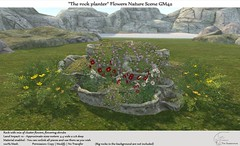 ".:Tm:.Creation ""The rock planter"" Flowers Nature Scene GM42"