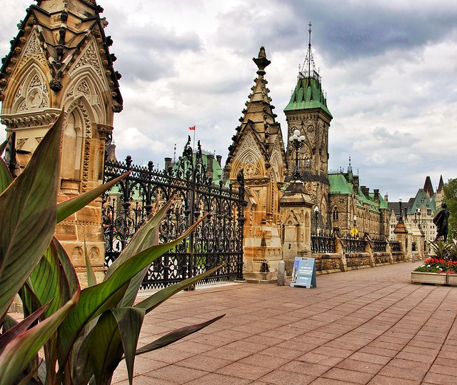 Ottawa Ontario Canada ~ Parliament Hill and Front Gates  ~ Historical Site