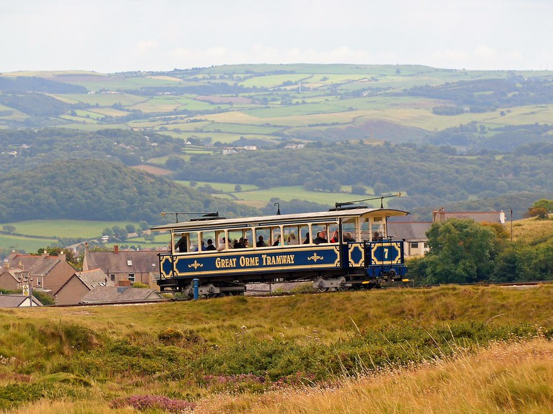 Tram ascending the Great Orme