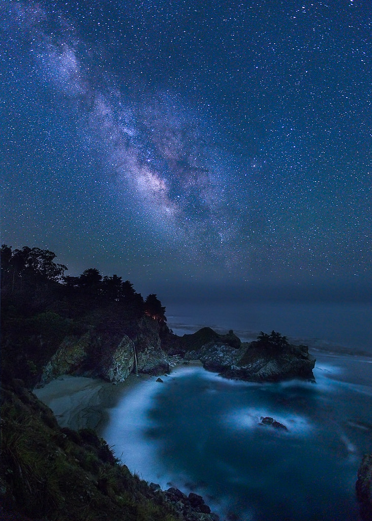 McWay Falls Big Sur California Milky Way