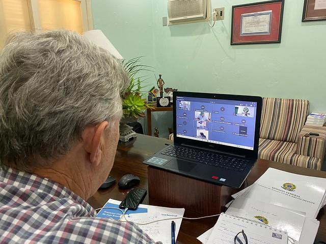 06/04/2020 Tele-reunião com ministério da Economia
