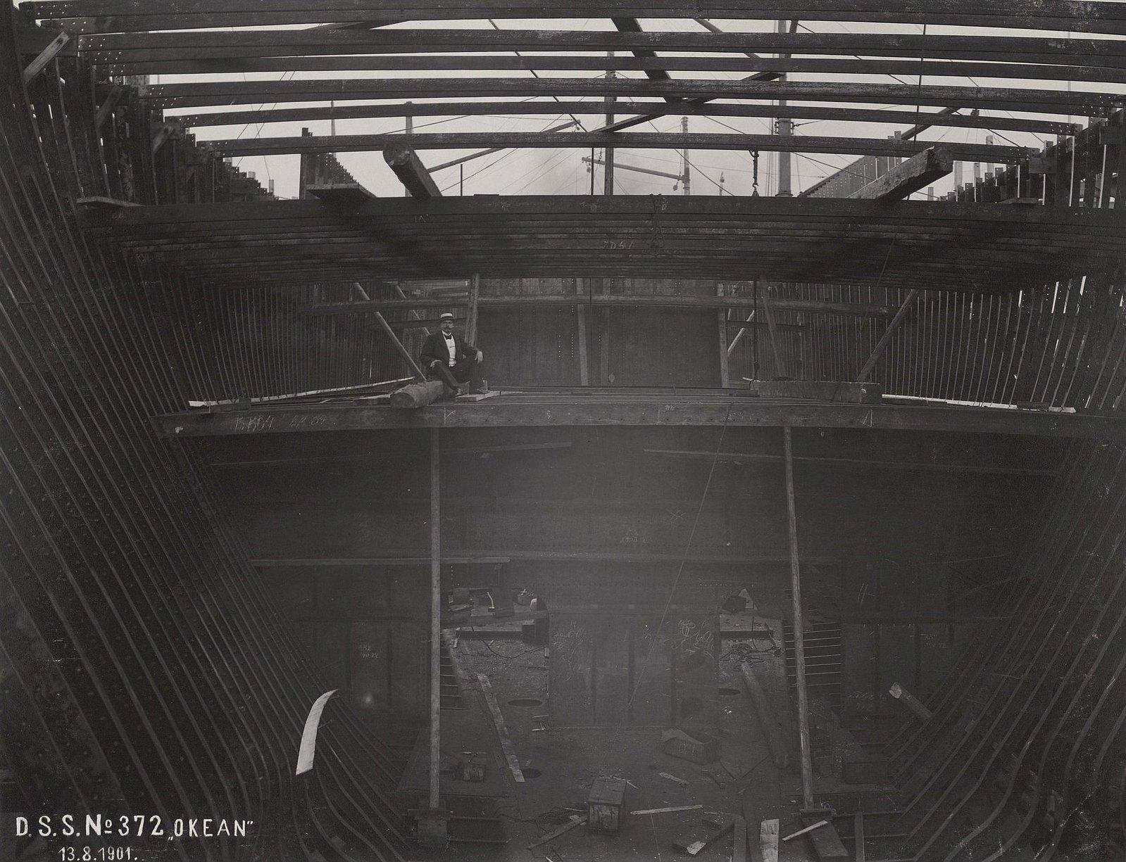 12. Строительство учебного судна «Океан». 13 августа 1901 г.