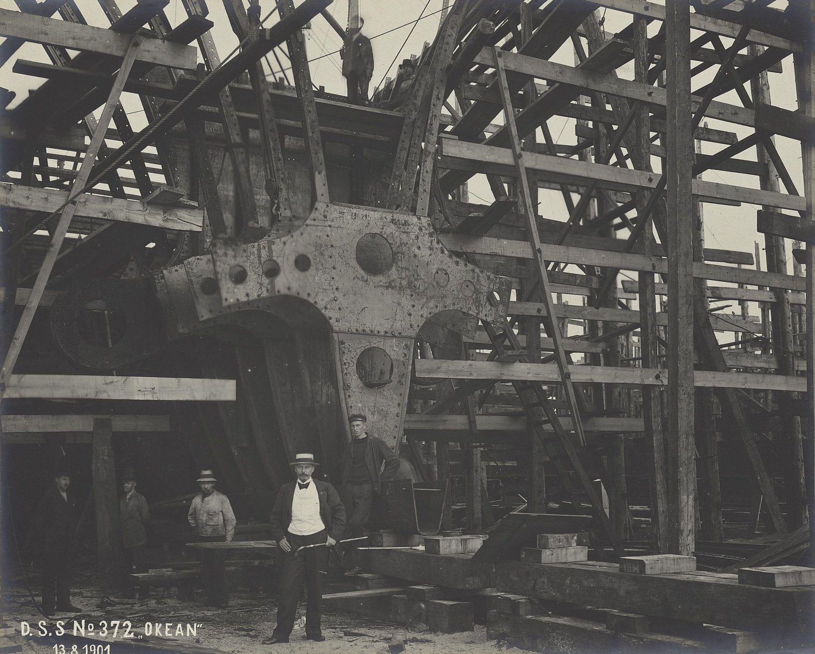 03. Строительство учебного судна «Океан». 13 августа 1901 г.