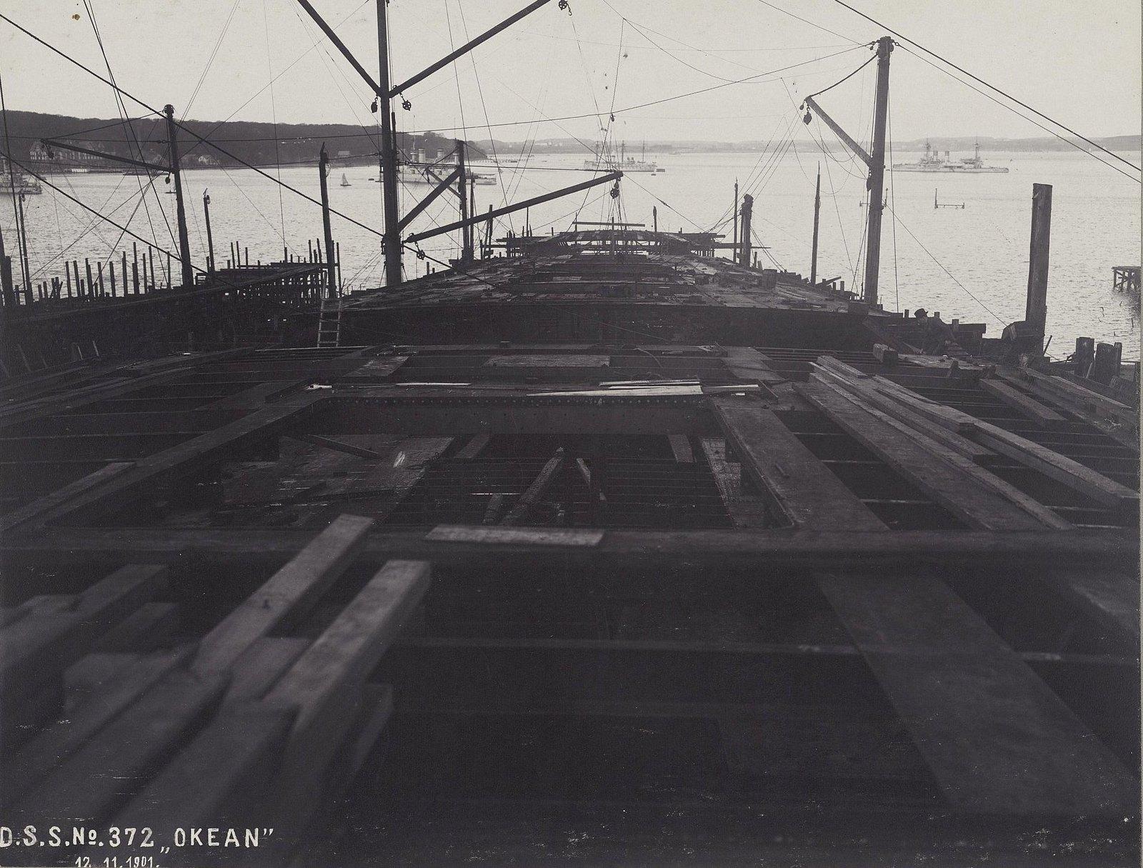 01. Строительство учебного судна «Океан». 12 ноября 1901 г.