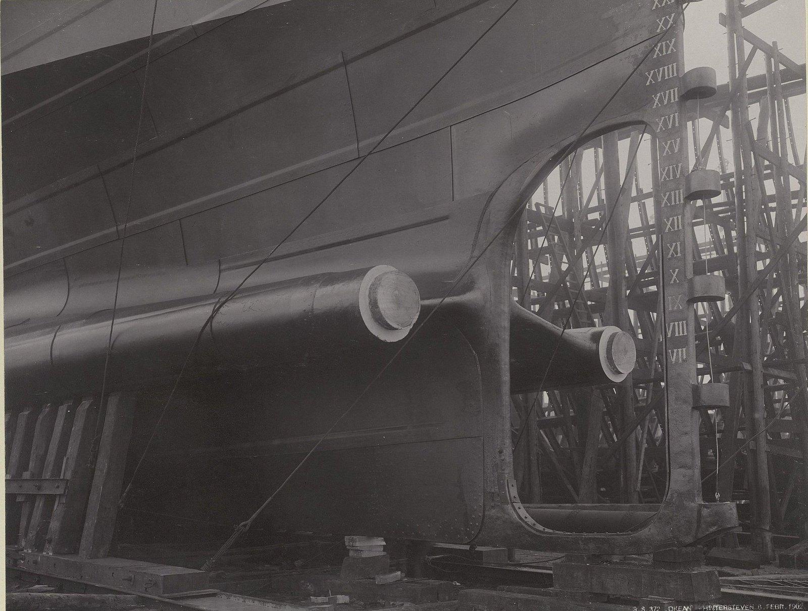 38. Учебное судно «Океан» на завершающем этапе строительства. 8 февраля 1902 г.