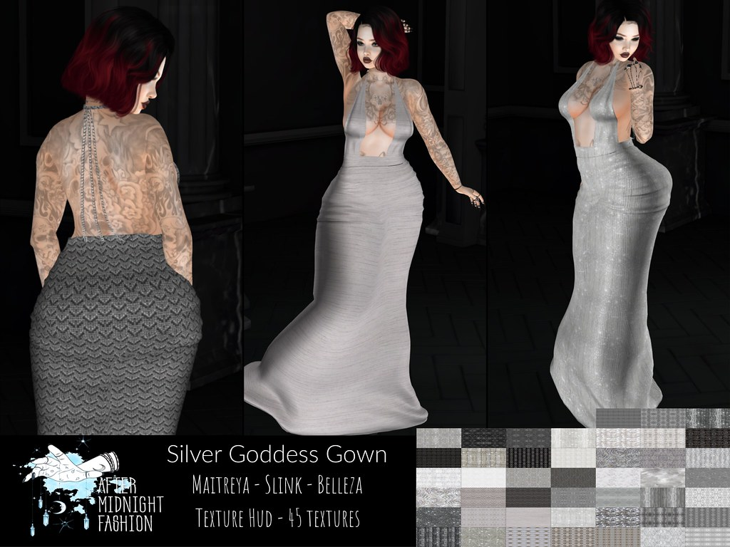 ::AMF:: Silver Goddess Gown Ad