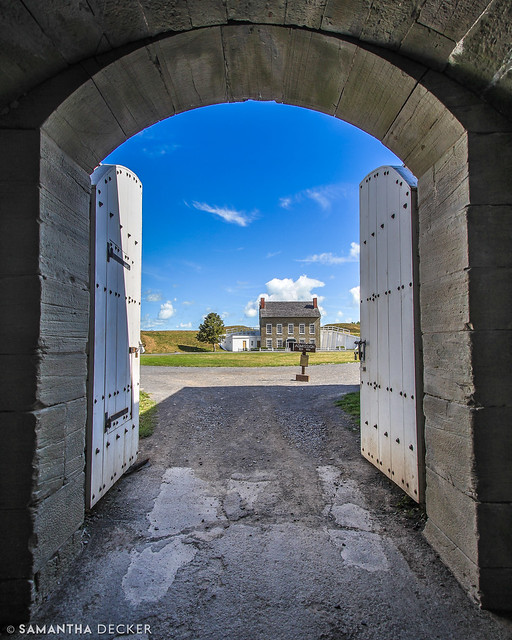 Looking Through the Doors at Fort Ontario