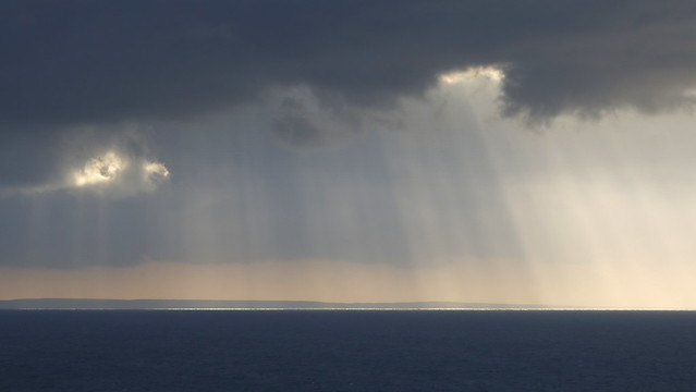 Late evening sun rays over the Outer Hebrides