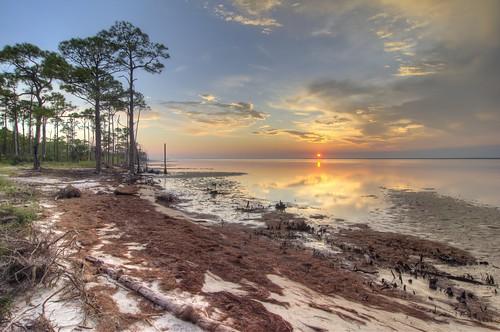 stgeorgeisland florida statepark sunset water reflection beach nature sky reflections sand pines apalachicola