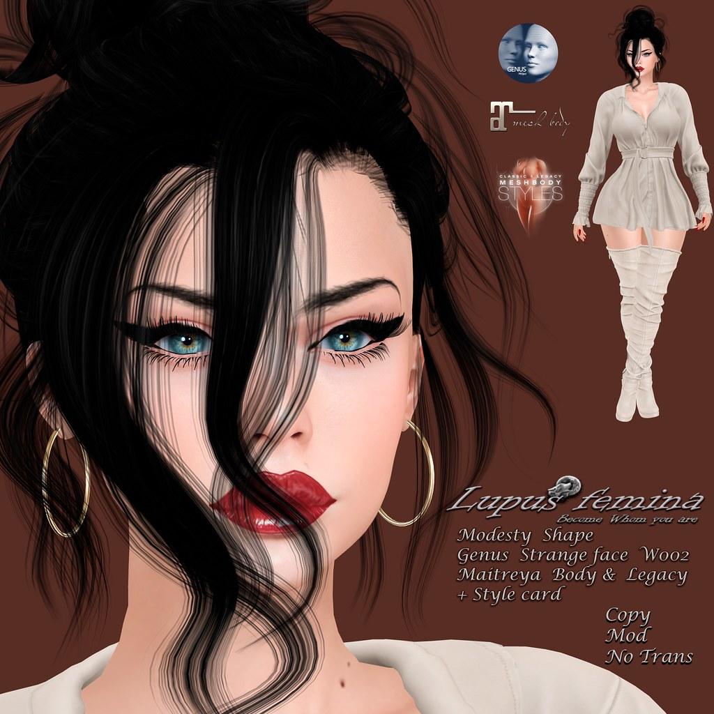 """""""Lupus Femina"""" Modesty Shape – Genus Strange Face W002"""