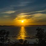 28. Juuni 2018 - 2:10 - Coucher de soleil sur la Gaspésie.