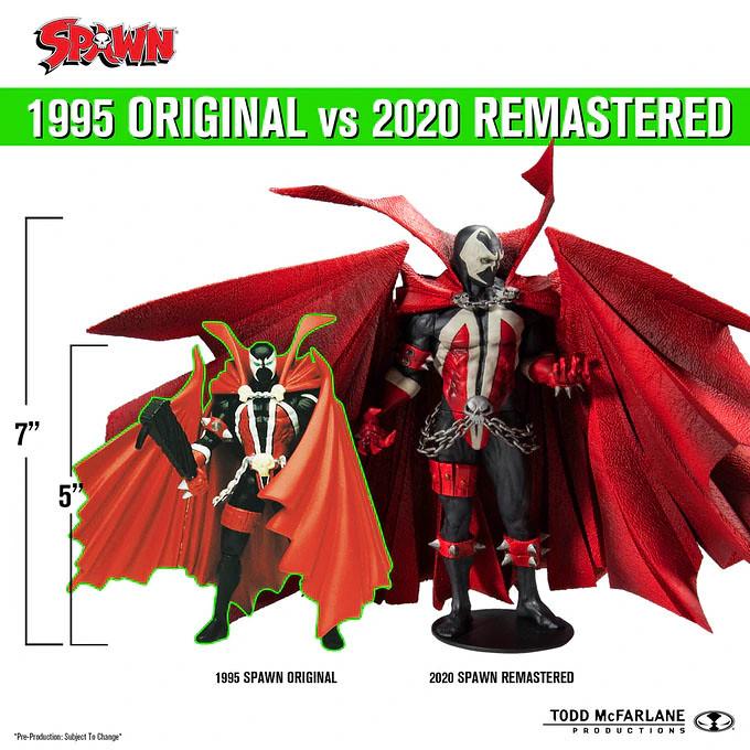 McFarlane Toys 將重製 1995 年元祖版本的「閃靈悍將」可動人偶與漫畫!現正於 Kickstarter 募資中~ The Original SPAWN Action Figure & Comic Remastered (2020)