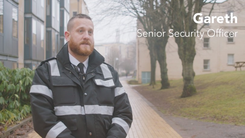 A security officer on campus.
