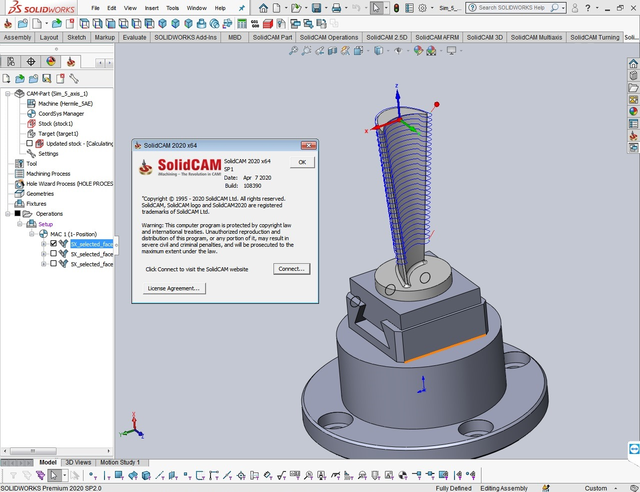Programming with SolidCAM 2020 SP1 for SolidWorks 2012-2020 full