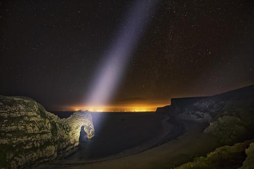 durdledoor dorset night lightpainting