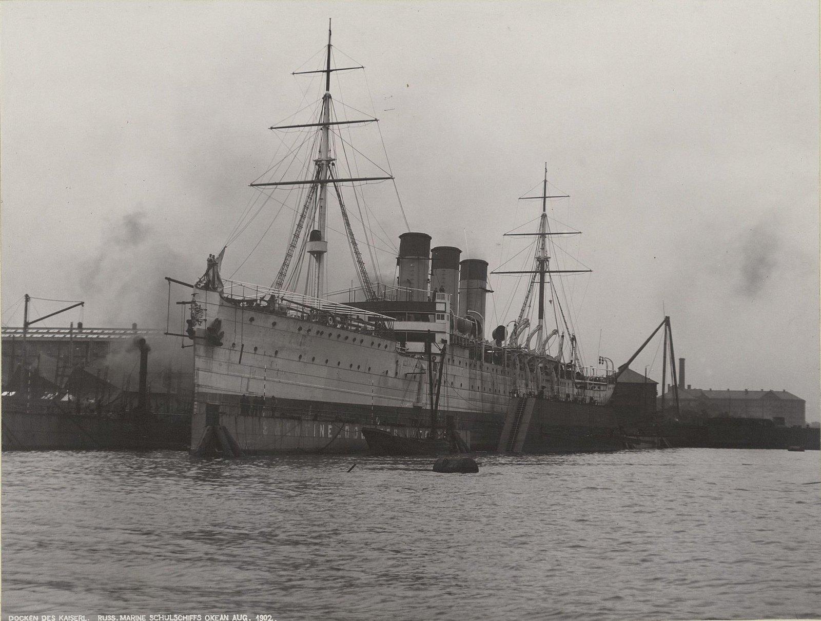 31. Учебное судно «Океан» в порту. Август 1902 г.