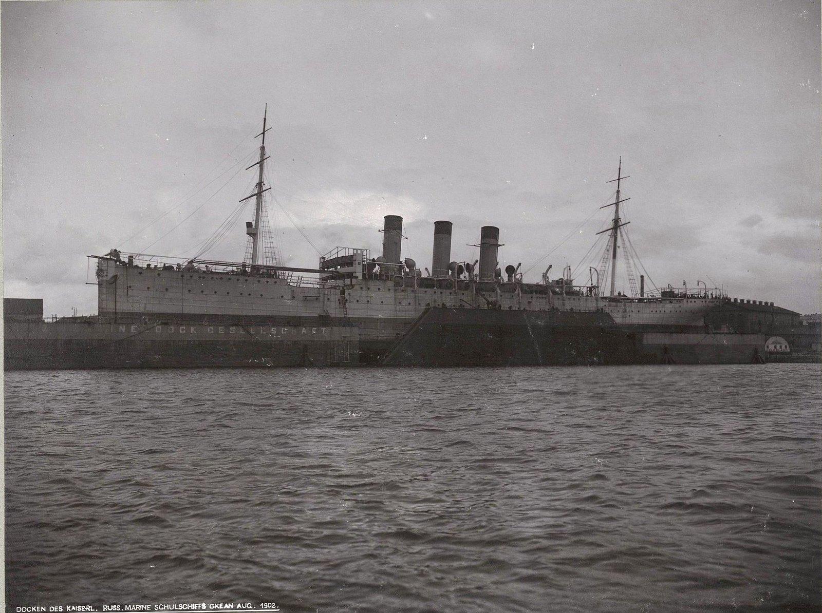 30. Учебное судно «Океан» в порту. Август 1902 г.