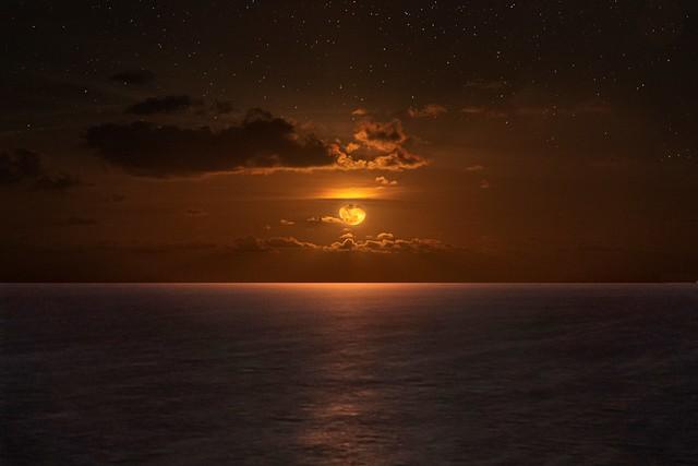 Golden Ocean Moonrise