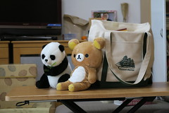 Panda and  Rilakkuma chillin out :sunglasses: