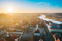 Kaunas old town | Lithuania aerial
