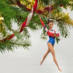 "Barbie: ""Gymnast"" 2020 Christmas Ornament (Hallmark)"