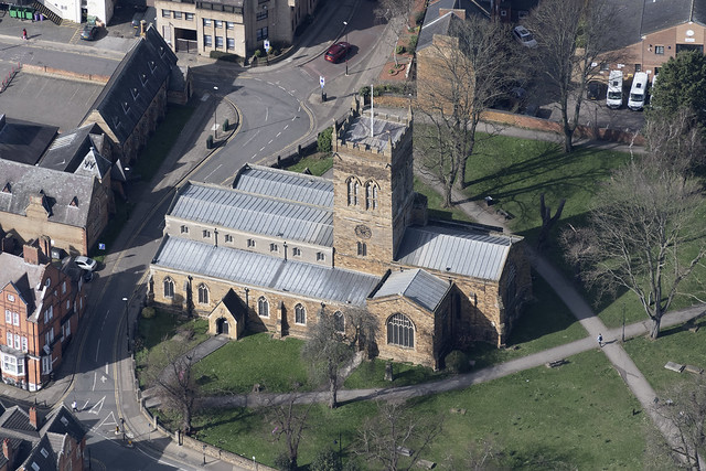 Church of St Giles - Northampton aerial image