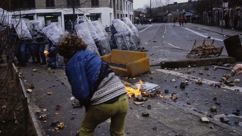 Demonstranter og Politi i kamp ved en razzia ved Christiania. Foto: Claus Bjørn Larsen / Scanpix