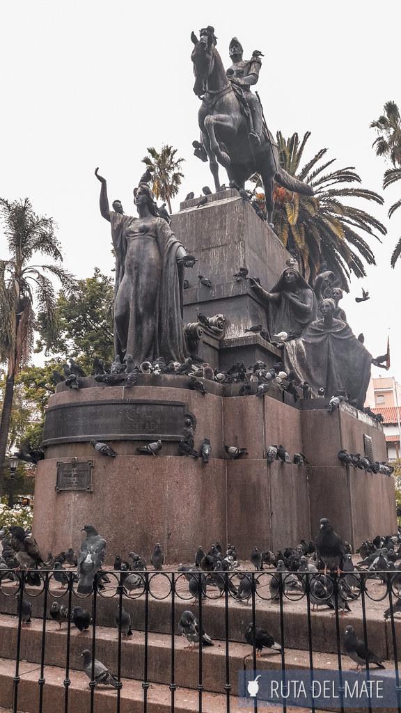 Plaza 9 de Julio en Salta