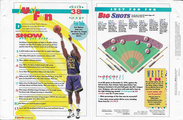 1996 Karl Malone posters 43a