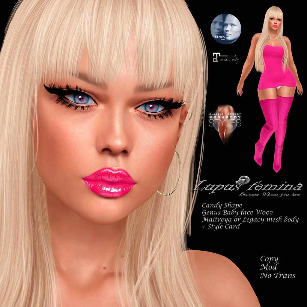 """Lupus Femina"" Candy Shape – Genus Baby W002"
