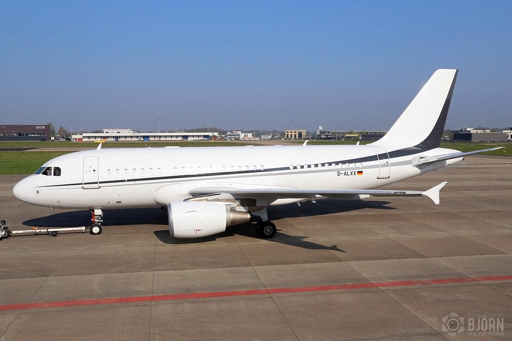 D-ALXX Airbus A319-115CJ K5 Aviation - Maastricht Aachen Airport / EHBK