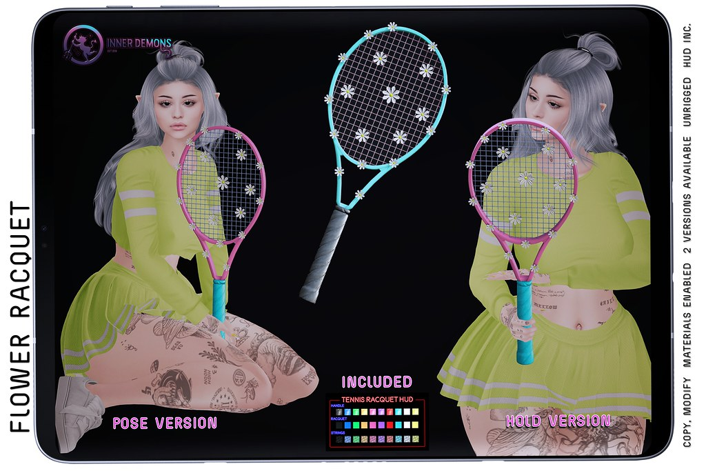 {ID} Flower Racquet @ Spring Flair