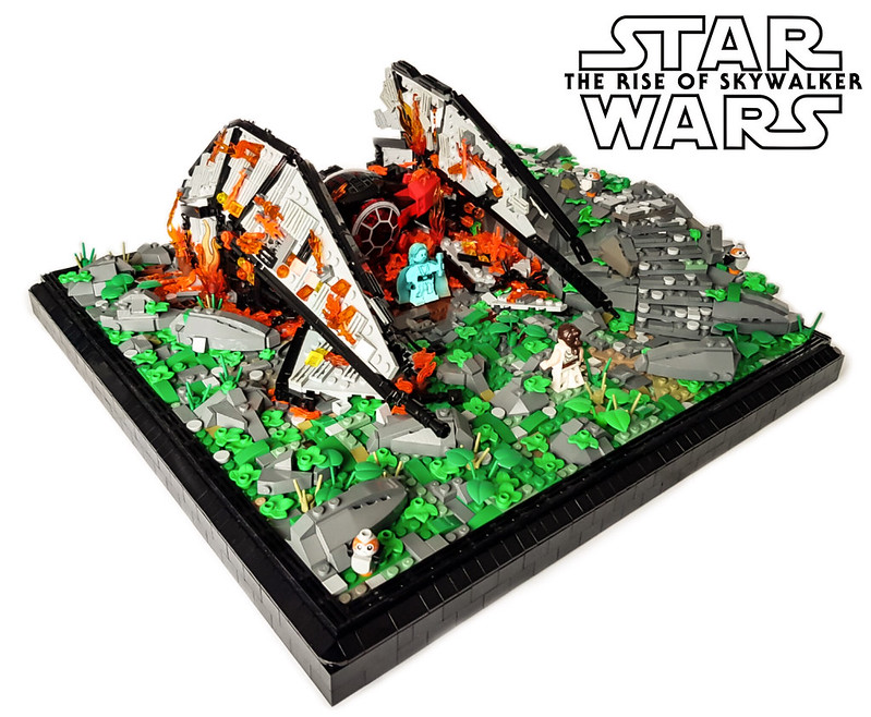 Moc Star Wars Episode Ix The Rise Of Skywalker Burning Tie Whisper On Ahch To Lego Star Wars Eurobricks Forums