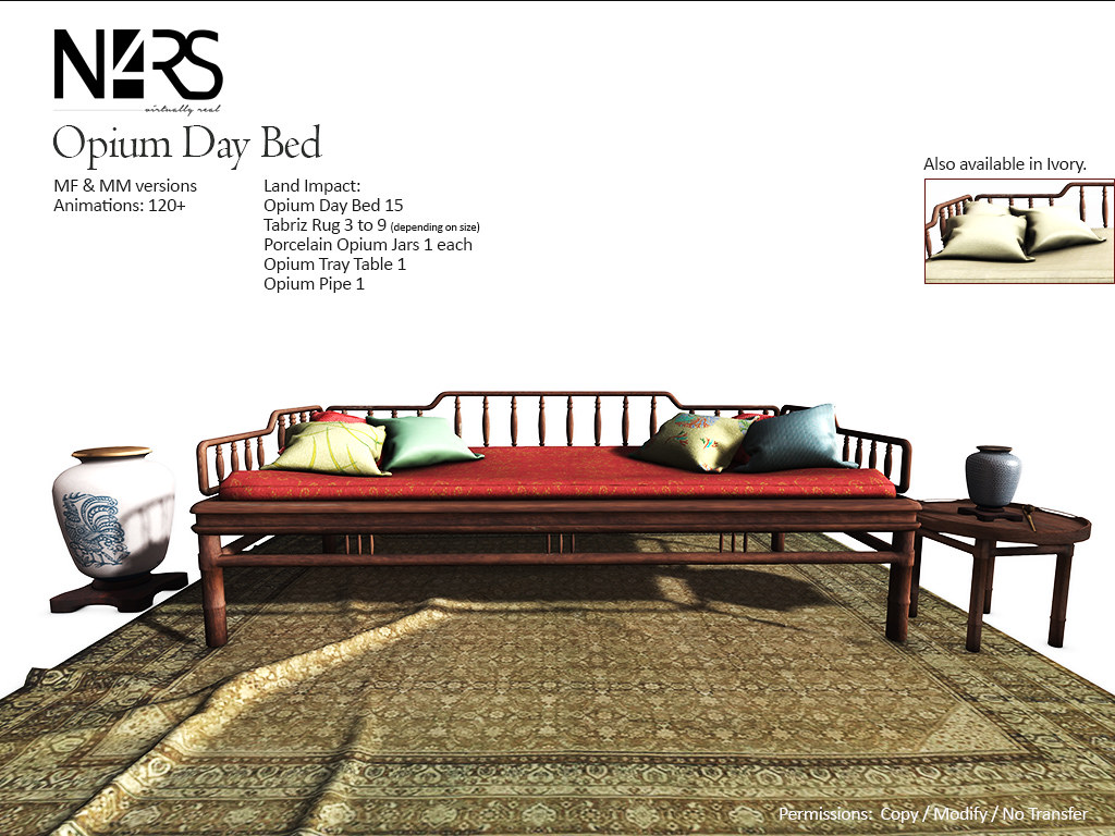 N4RS Opium Day Bed Set