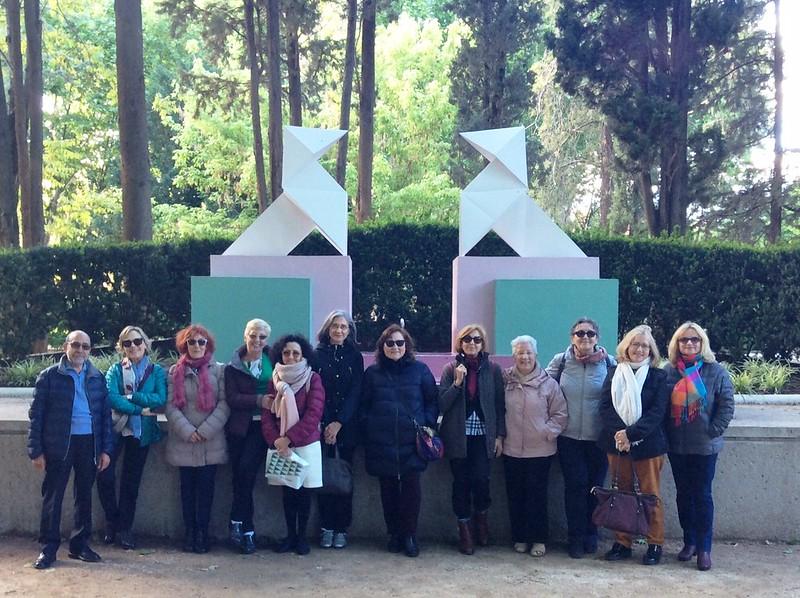 Grupo de lectura Palabra de Mujer en una excursión a Huesca. Fotografía: María Dubón.