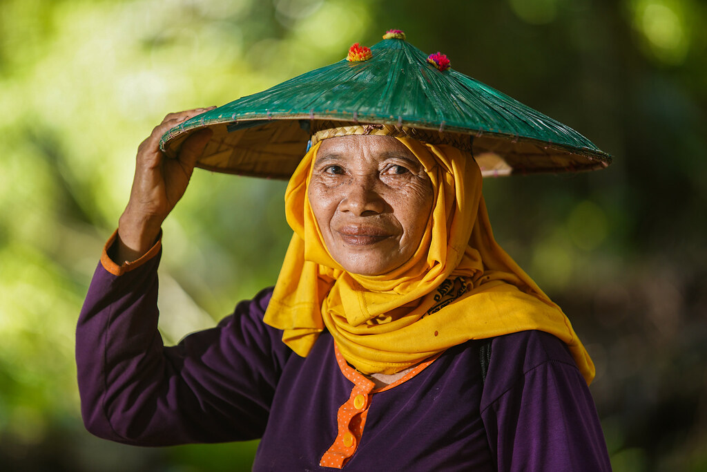 Portrait of Partai, oil palm plantation worker in Sabintulung village, Kutai Kartanegara, East Kalimantan.