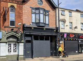 Boarded up Plau Bar in Preston | by Tony Worrall